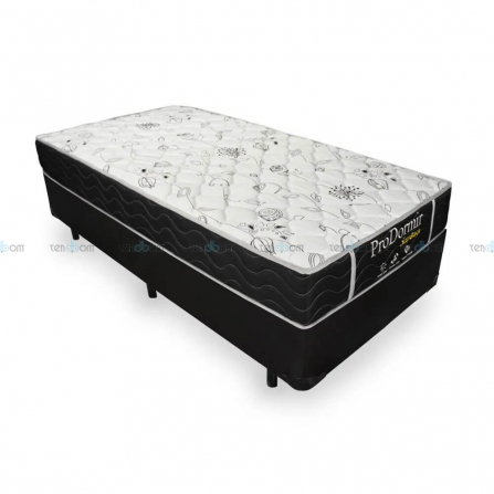 Conjunto Box Solteiro ProDomir Sleep Black (88x188x59)