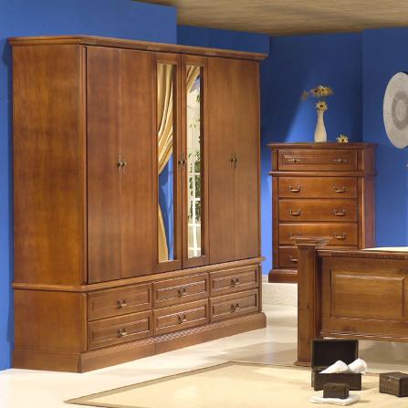 Guarda Roupa Casal 6 Portas C/ Espelho 5012