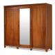 Roupeiro 3 Portas C/ Espelho Style Flex 8422 - Dômus Móveis