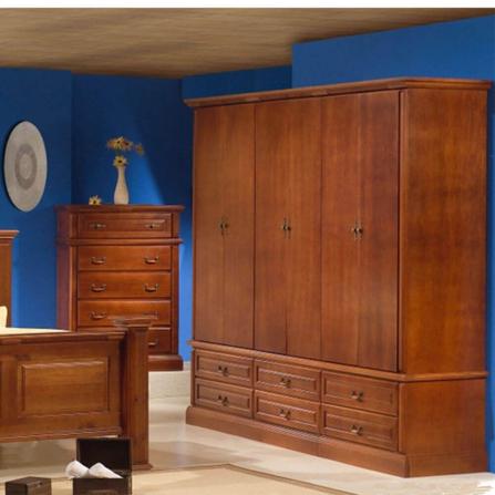 Roupeiro De Madeira 6 Portas 5032 Hacienda - Dômus Móveis