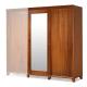 Roupeiro 2 Portas C/ Espelho Style Flex 8423- Dômus Móveis